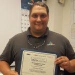 Congratulations to Member Chuck Ransiear on OSHA Trainer certification!